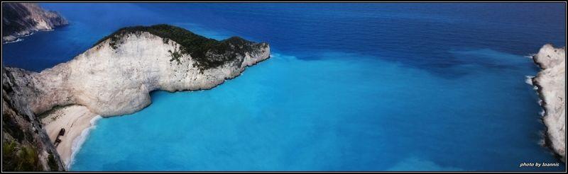 Above Shipwreck Zante Island Greece