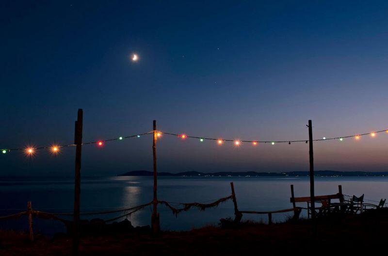 Lights under the moonlight