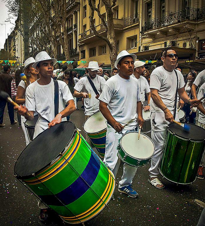 Buenos Aires celebrates Brazil
