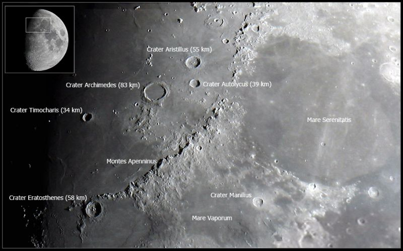Moon: Montes Apenninus and Surroundings