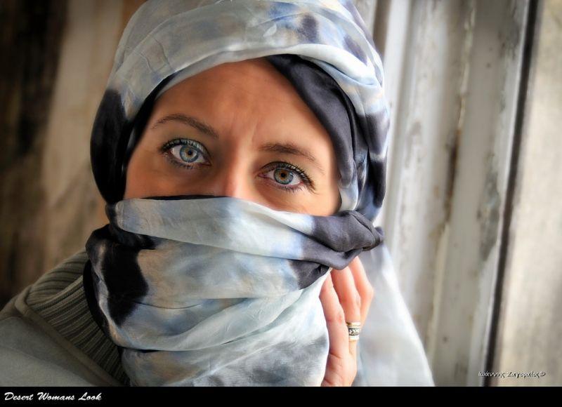desert womans look